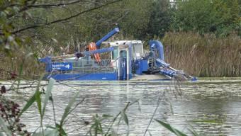 Inkwilersee: Schwimmender Staubsauger wurde eingewassert