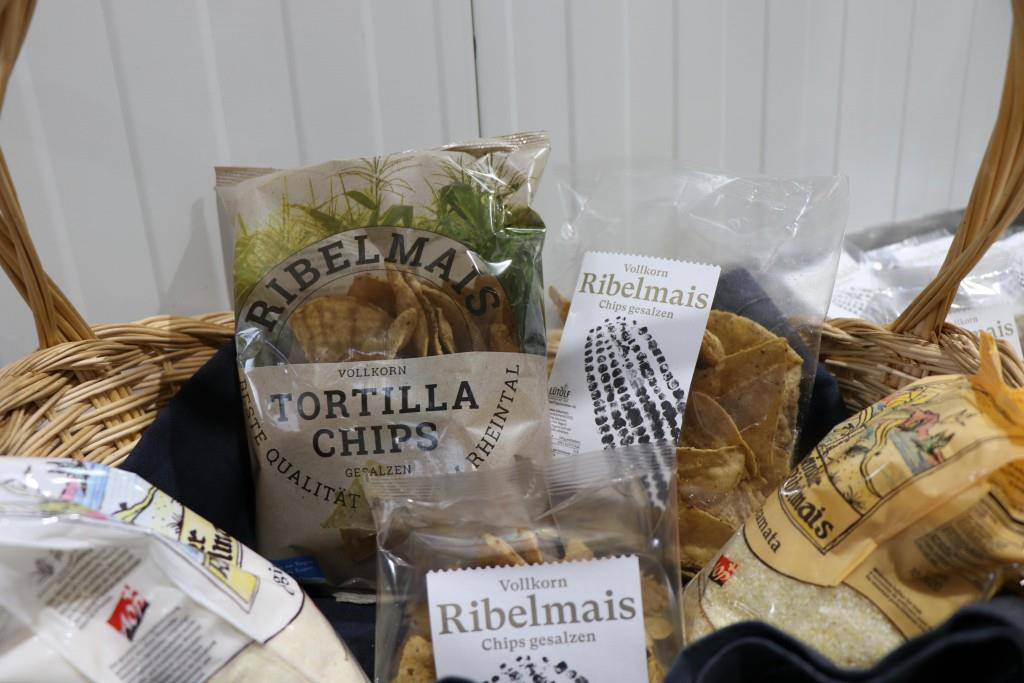 Ribelmais-Chips in Produktion