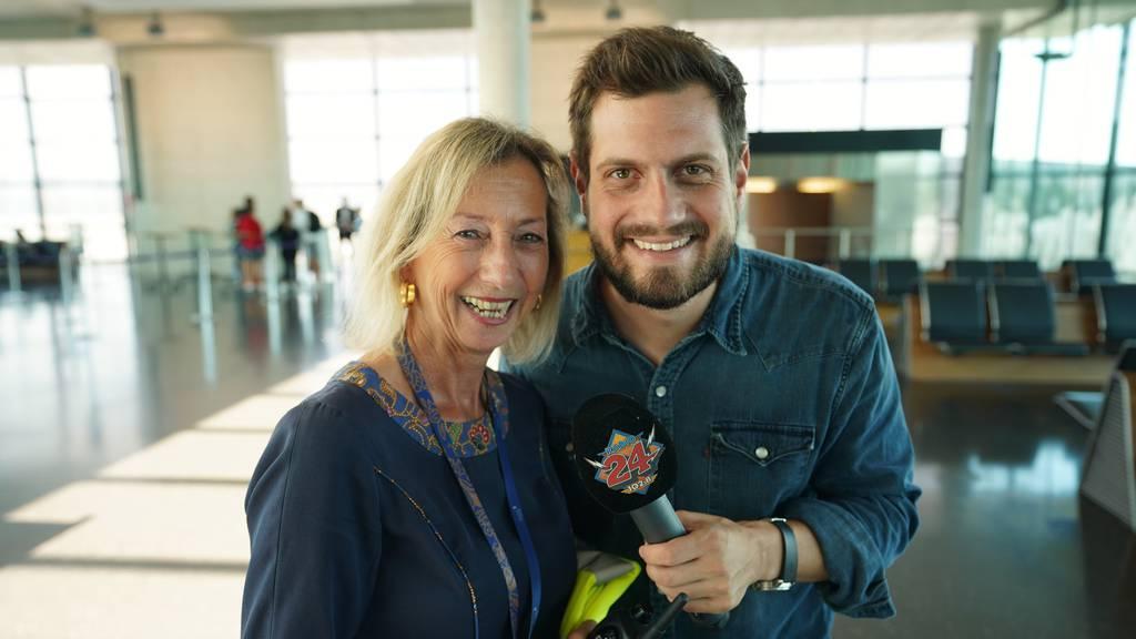 Dominik Widmer am Flughafen Zürich