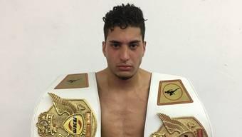 Der Schweiz-Marokkaner Jihed Hamami hat im Kickboxen drei EM-Gürtel geholt.