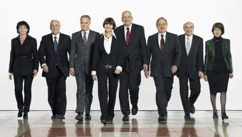 So startete der Bundesrat 2007 in die Legislatur (Archiv)
