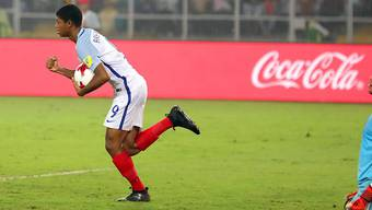 U17-Weltmeister mit England, Torschütze beim 5:2 im Final gegen Spanien und Topskorer in Indien: Rhian Brewster