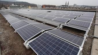 Die neue Photovoltaik-Anlage der sbo auf dem Werkhofdach ist in Betrieb.