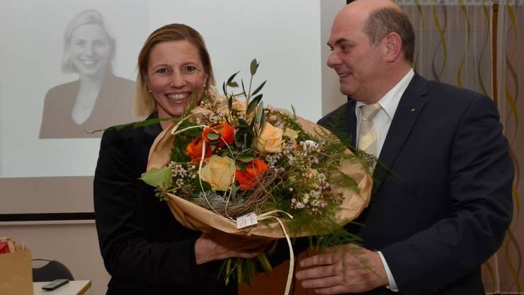 Links Suzanne Marclay-Merz Rechts Rainer Lüscher