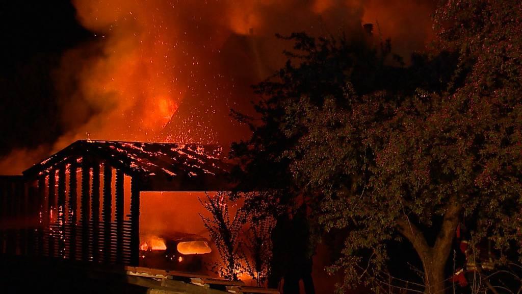 Pfyn TG: Brand fordert mehrere hunderttausend Franken Sachschaden