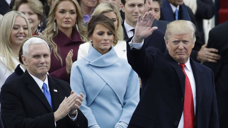 "20. Januar 2017: ""America first."" (in seiner Antrittsrede in Washington über die künftige Politik)"