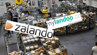 Zu ähnlich oder ausreichend verschieden? Die kleine Aargauer Auktionsplattform Mylandoo und der deutsche Online-Handelsriese Zalando.