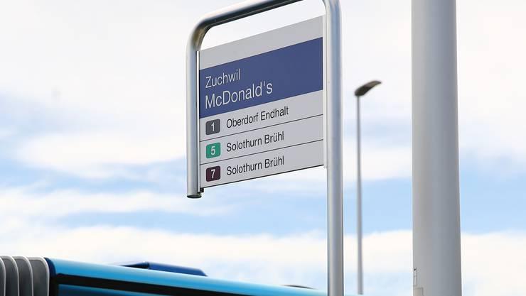 Im solothurnischen Zuchwil  wurde die Bushaltestelle «McDonald's» 2017 unbenannt. Besonders unter lokalen Gewerblern regte sich Widerstand gegen die Namensgebung.