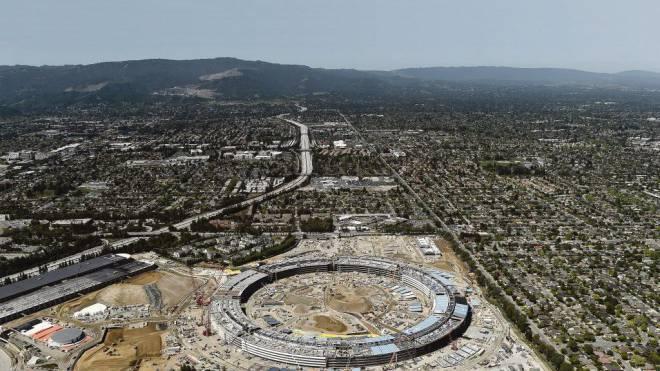 Machbarkeitsglaube und Grössenwahn: Der Apple-Konzern baut in Cupertino (Kalifornien) einen gigantischen neuen Campus. Foto: Reuters/Noah Berger