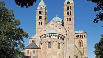 Der Dom von Speyer, wo ein Trauerzeremoniell für den verstorbenen Altbundeskanzler Helmut Kohl gegeben wird