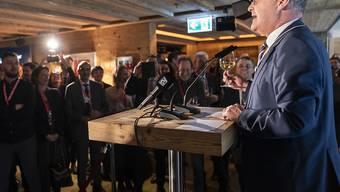 Wirtschaftsminister Guy Parmelin sieht Chancen für ein Freihandelsabkommen mit den USA. Bis dorthin sei es aber ein steiniger Weg. (Archivbild)