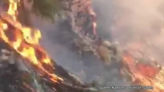 In Amden brannte ein Waldstück