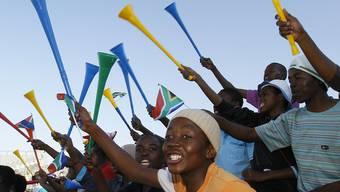 Die Vuvuzela gehört in Südafrika zu jedem Fussballspiel (Archiv)