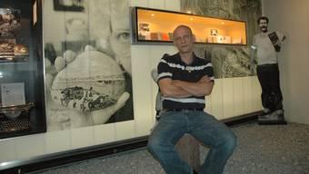 Daniel Huber im Dokumentationszentrum der Radgenossenschaft der Landstrasse in Zürich: «Wiedergutmachung wäre, wenn wir Plätze erhielten.»