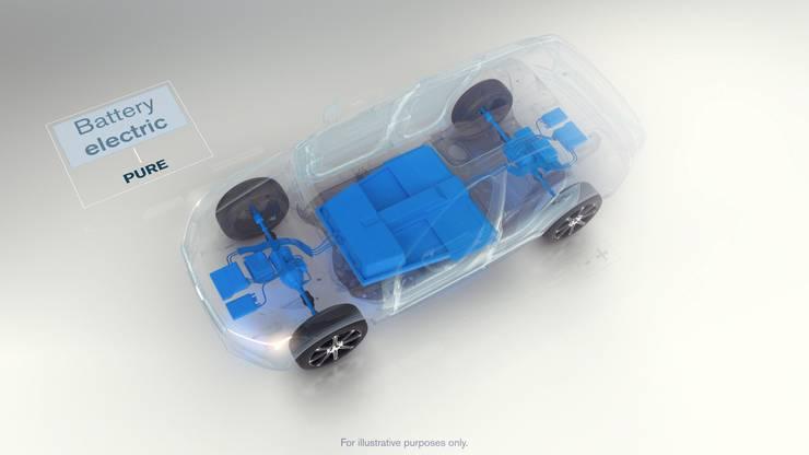Rein Elektrisch: Gewisse Modell sollen mit reinem E-Antrieb und grosser Batterie im Fahrzeugboden gebaut werden.