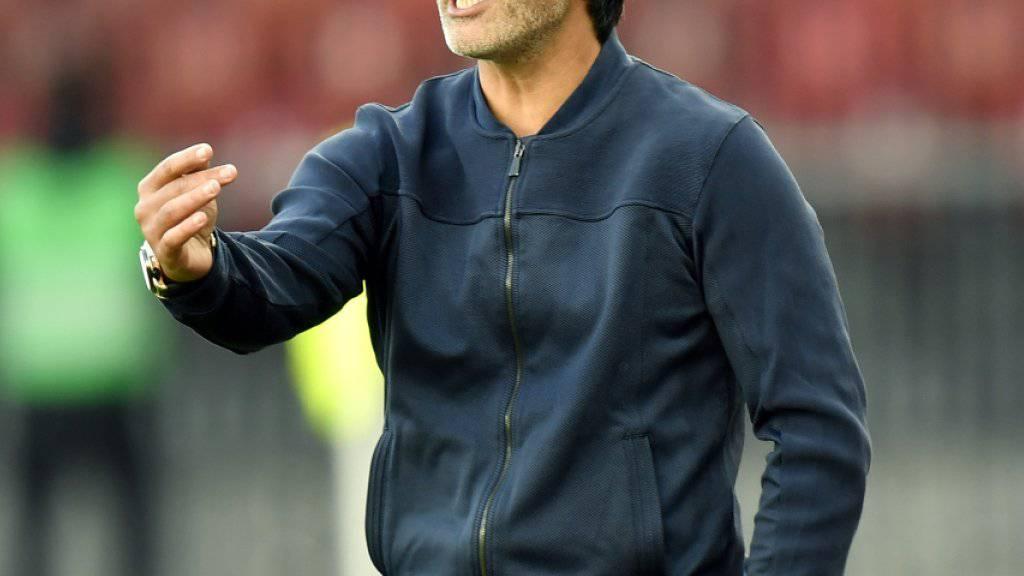 Feierte mit dem 3:2 gegen Sion einen Einstand nach Mass: der neue GC-Trainer Murat Yakin