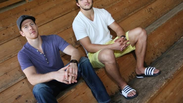 Shayne Wiebe (links) und Justin Fese im Oltner Kleinholz.