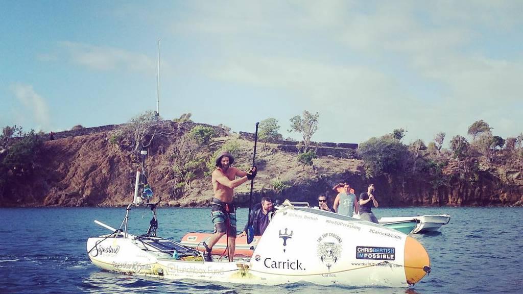Über 90 Tage paddelte Chris Bertish durch den Atlantik.