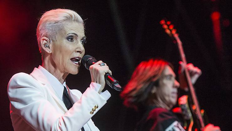 Marie Fredriksson von Roxette letzten Sommer am Festival Moon & Stars in Locarno. Das Konzert absolvierte sie zum grössten Teil sitzend.