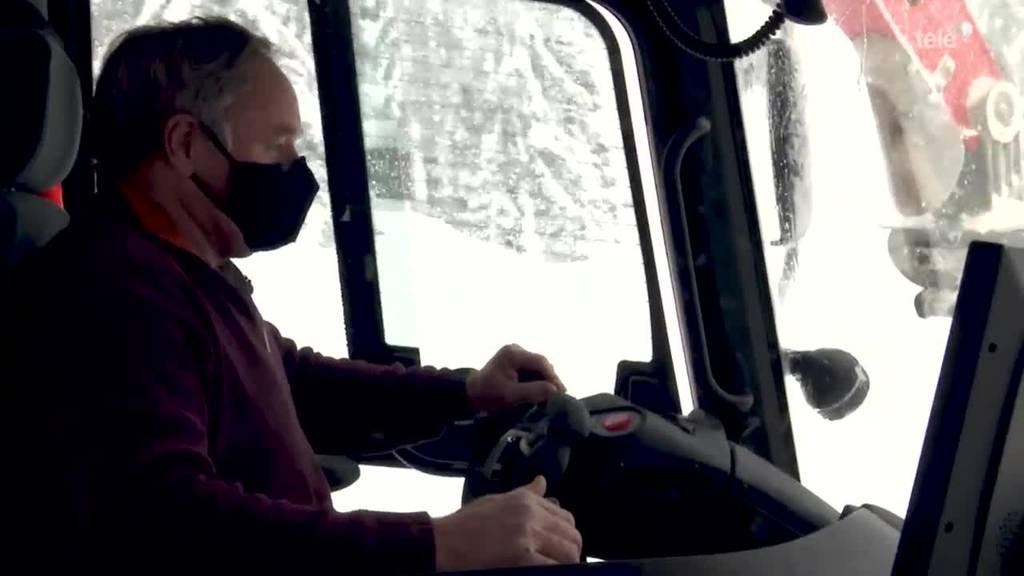 Pistenbully-Fahrer Sörenberg