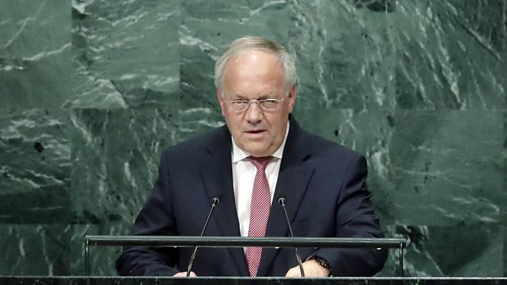 Im September 2016 spricht Bundespräsident Johann Schneider-Ammann ausserdem vor der UNO-Generalversammlung.