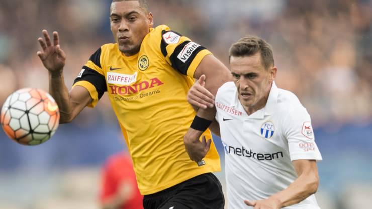 Treffen Ende Oktober womöglich aufeinander: YB-Stürmer Guillaume Hoarau und FCZ-Spieler Burim Kukeli