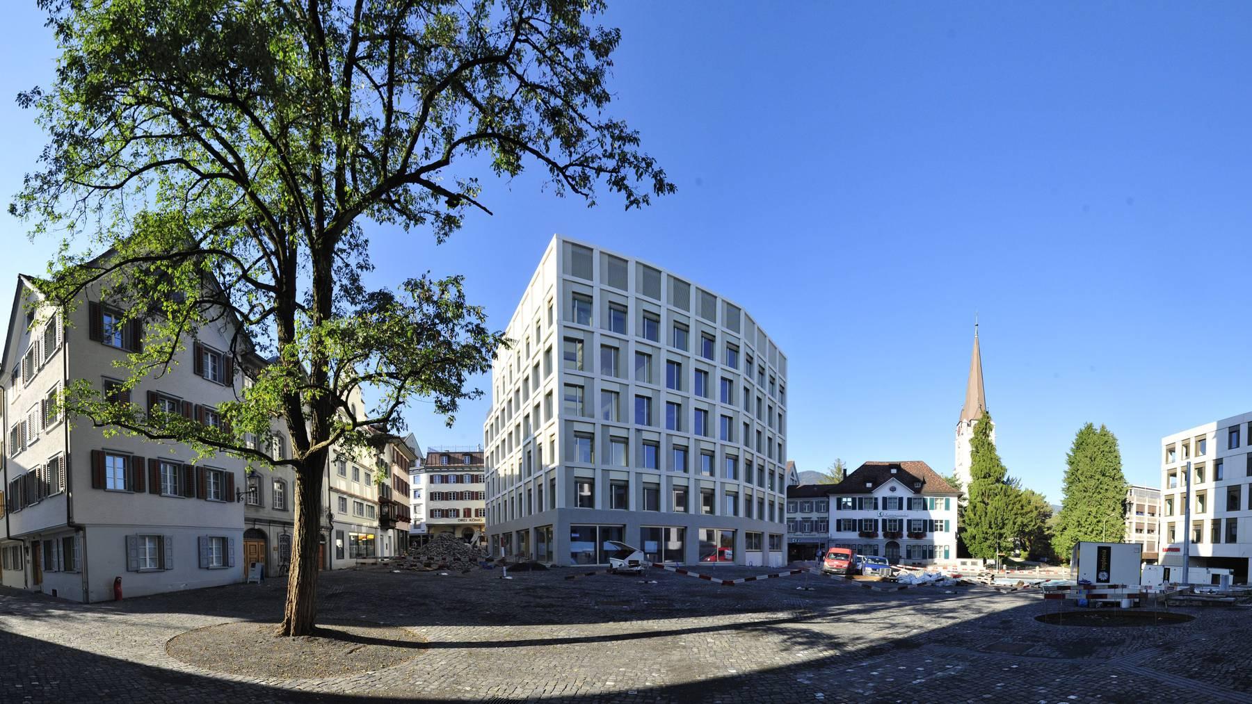 Auf dem neuen Rathausplatz wird es Schützengarten geben.