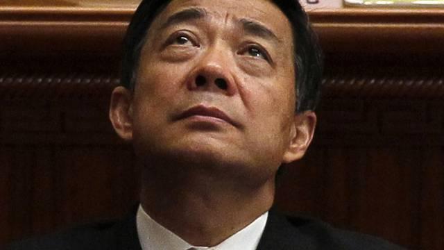 Dem gestürzten Spitzenpolitiker Bo Xilai soll der Prozess wegen Korruption und Amtsmissbrauchs gemacht werden (Archiv)