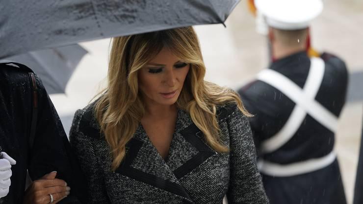 Präsidentengattin Melania Trump zu Besuch auf dem Soldatenfriedhof in Arlington.