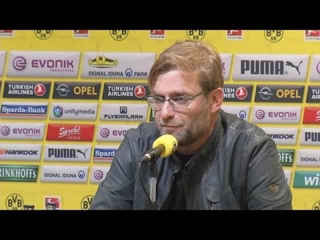 Pressekonferenz: Jürgen Klopp vor dem Heimspiel gegen den SC Paderborn