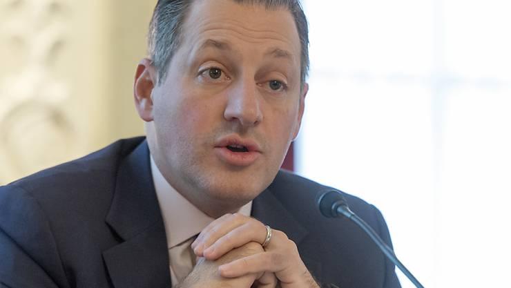 Der Schweizer Star-Banker Boris Collardi sieht im Interview mit dem neuen Sender CNN Money Switzerland die Schweizer Bankenlandschaft an vorderster Front bei neuen Technologien mitspielen. (Archivbild)