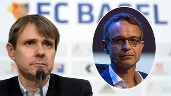 Die beiden Bernhards: Bernhard Burgener (links) übernimmt das Zepter beim FCB von Bernhard Heusler (rechts)