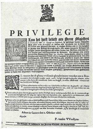 """Regelt den Zugang von 50 Fischerbooten für """"ewig"""": Das Brügger-Privileg von 1666, garantiert vom englischen König Charles II."""