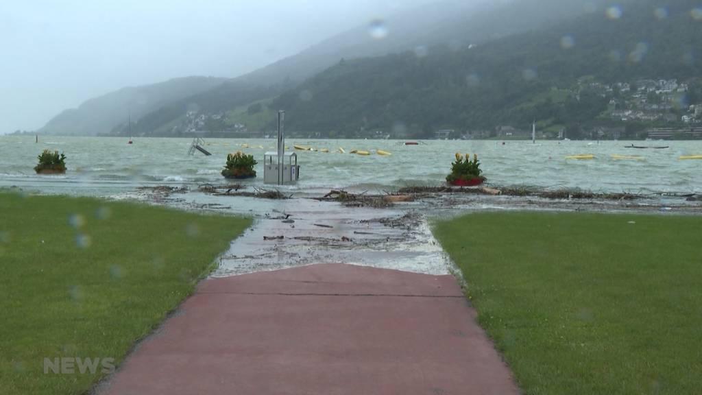 Höchste Gefahrenstufe 5: Bielersee hat die Hochwassergrenze überschritten