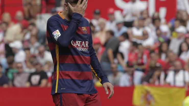 Gerard Piqué kann Barcelonas Niederlage gegen den FC Sevilla kaum fassen