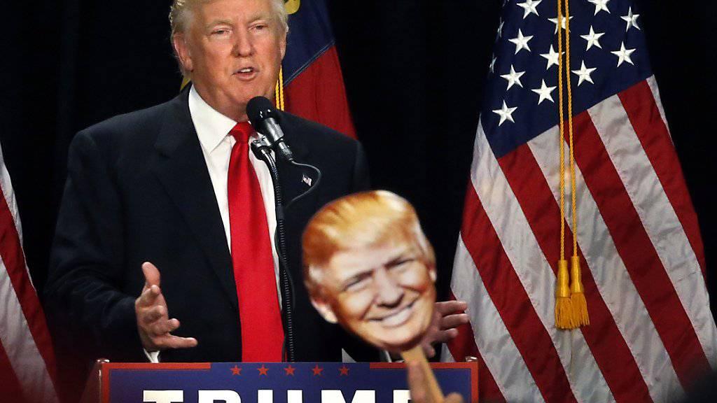 Ein neuer Trump? Der US-Präsidentschaftskandidat gibt sich bei seiner Ansprache in Charlotte auffällig einsichtig.