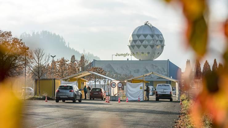 Covid-19-Testzentrum in Interlaken.