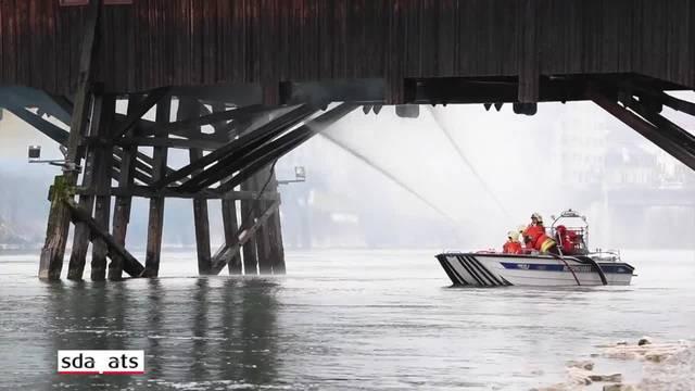 Historische Holzbrücke in Olten durch Brand beschädigt