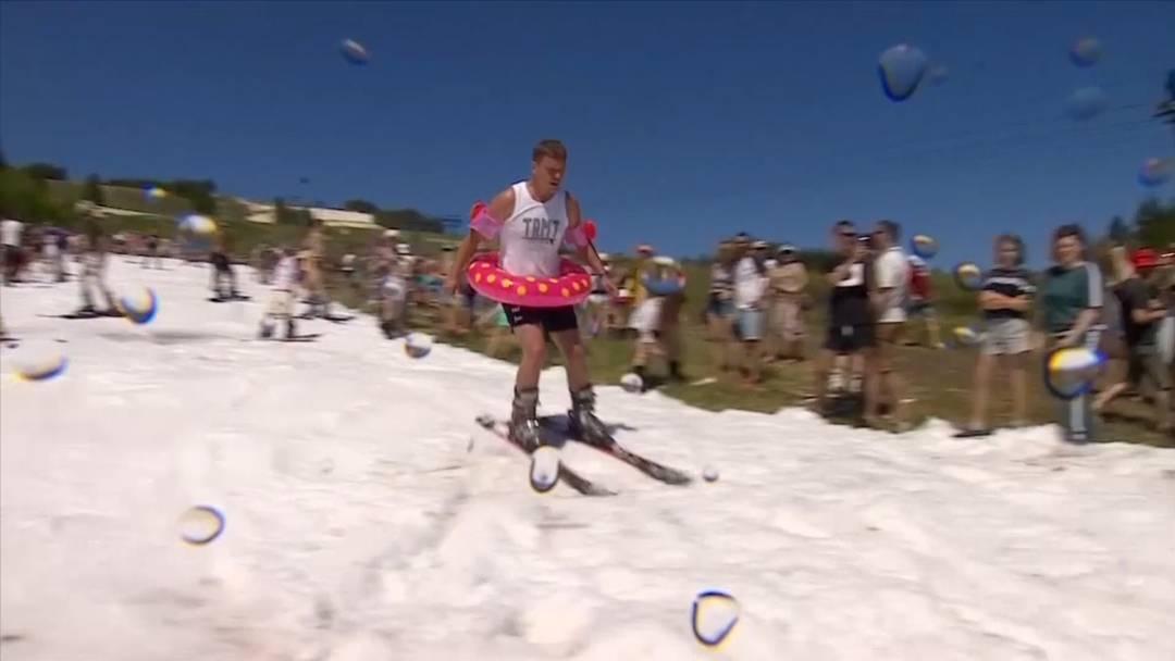 Ski und Schwimmring - So gehen Sommerferien in Russland