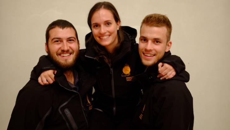 David Bichsel, Tamara Müller und Thomas Bucher (v.l.)