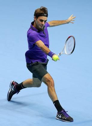 Roger Federer im Spiel
