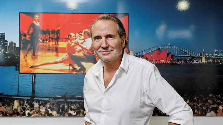 Exklusive Lage: Das von Peter Hürlimann ins Leben gerufene Openair-Kino in der Bucht von Sydney auf einer Fotografie am Cinerent-Sitz in Zürich.André Albrecht