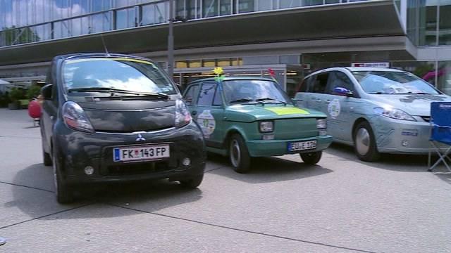 Elektroauto-Rallye WAVE macht Halt in Aarau
