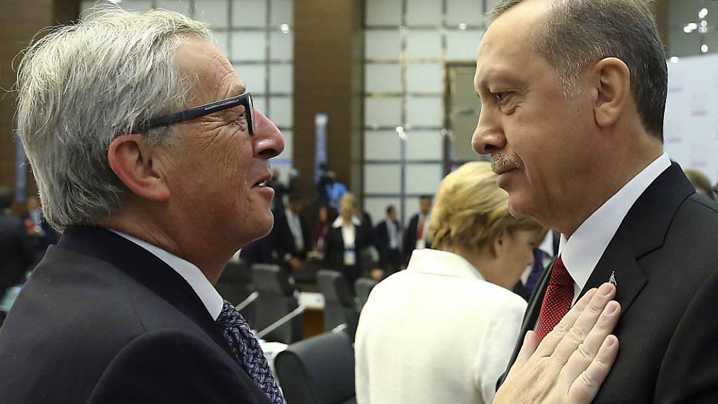 Partnerschaft vertiefen: der türkische Präsident Erdogan (rechts) und EU-Kommissionspräsident Jean-Claude Juncker