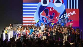Auch in diesem Jahr herrscht trotz Corona Grund zur Freude: Schlussfeier am Fantoche Festival 2019.