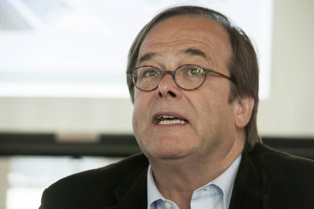 Benno Zehnder ehemals VR-Präsident der Verenahof AG, nach 10 Jahren Planung:  «Jetzt können wir endlich sagen: Verhindern kann das Bad keiner mehr.»