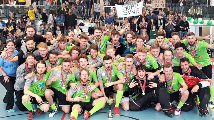 Wieder einmal dürfen sie jubeln: Es ist bereits der vierte Meistertiel für die U21 der SVWE in Serie.