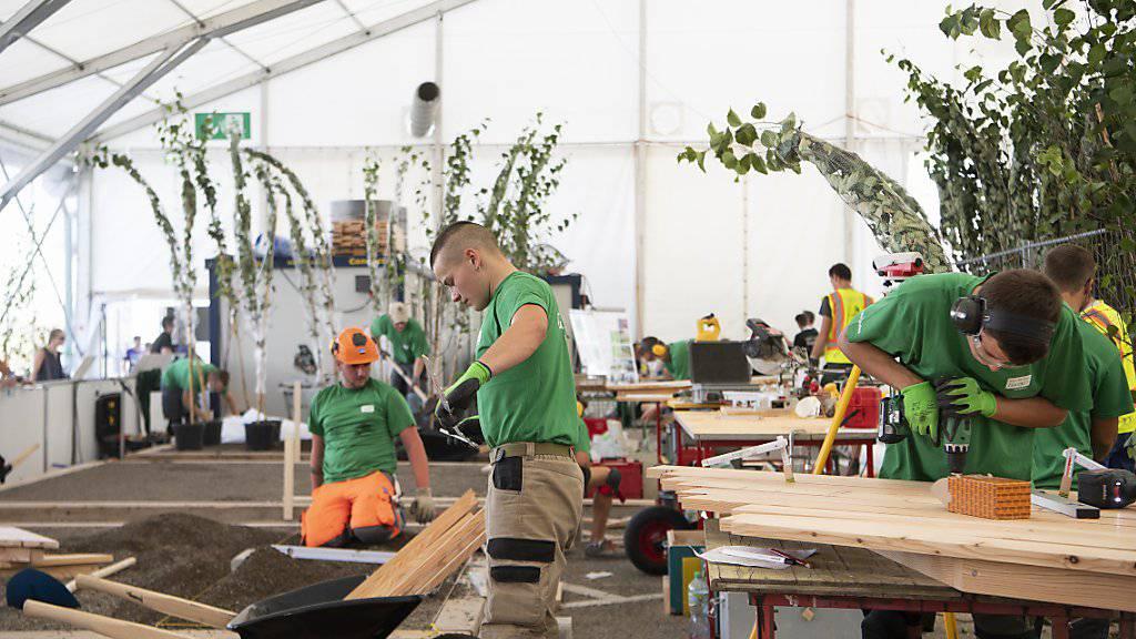Gärtner in Aktion während der letzten SwissSkills 2018.