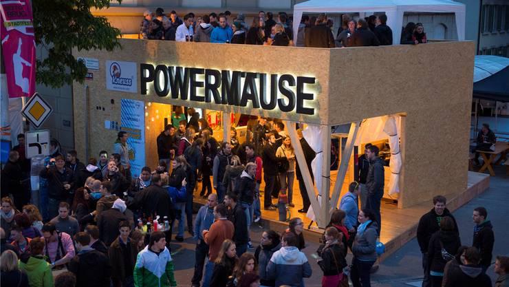 Das erste Stadtfest nach 18 Jahren Pause lockte vom 30. Mai bis zum 2. Juni 2013 Tausende Festbesucher nach Brugg und zu den «Powermäusen».