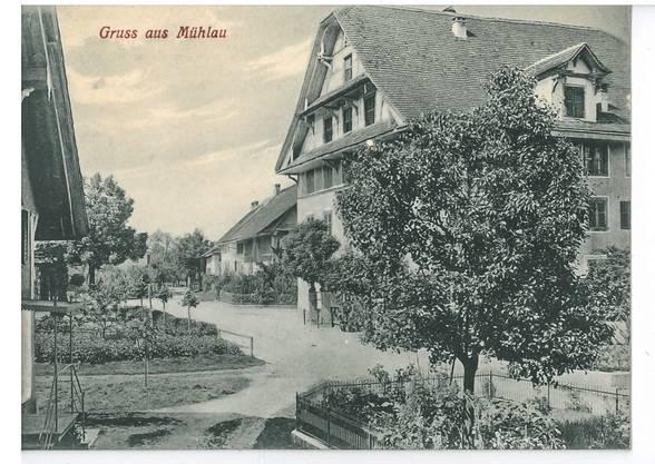 Diese Postkarte aus Mühlau ist unbekannten Datums, sie wurde auch nicht verschickt.